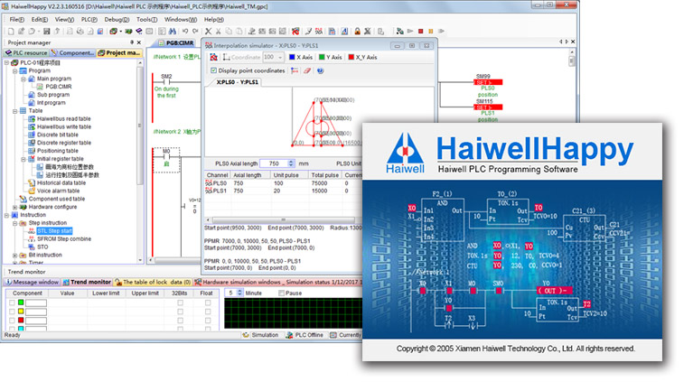 HaiwellHappy - Haiwell PLC programming software